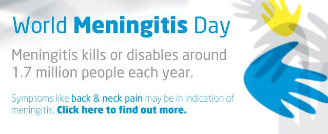 World Meningitis Day & Back Pain