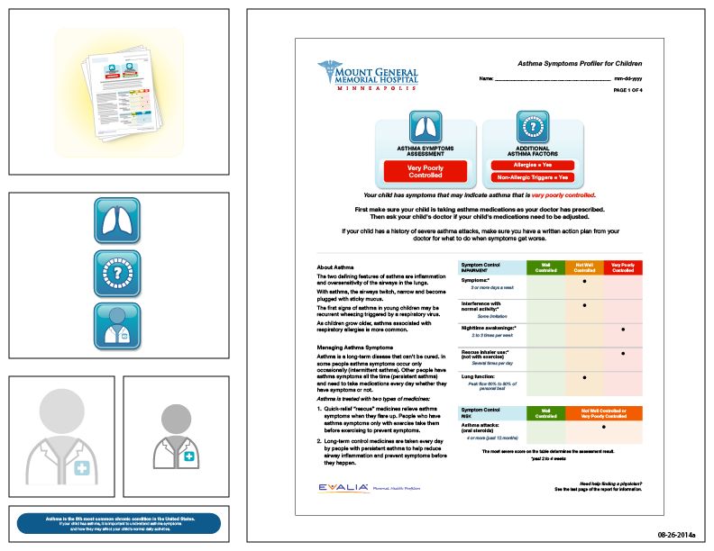 Preview of artwork for EVALIA® Asthma Symptoms Profiler for Children