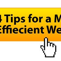 4 Tips For A More Efficient Website