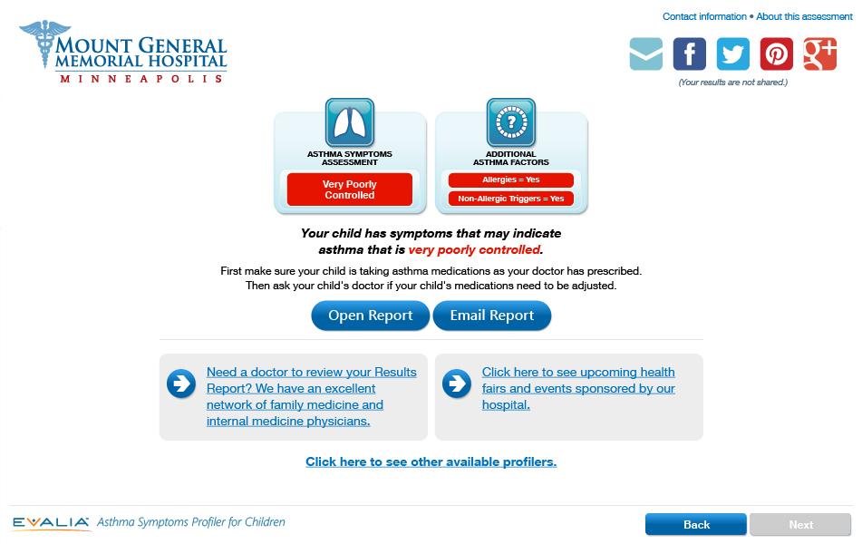 Asthma Symptoms Profiler (Children)