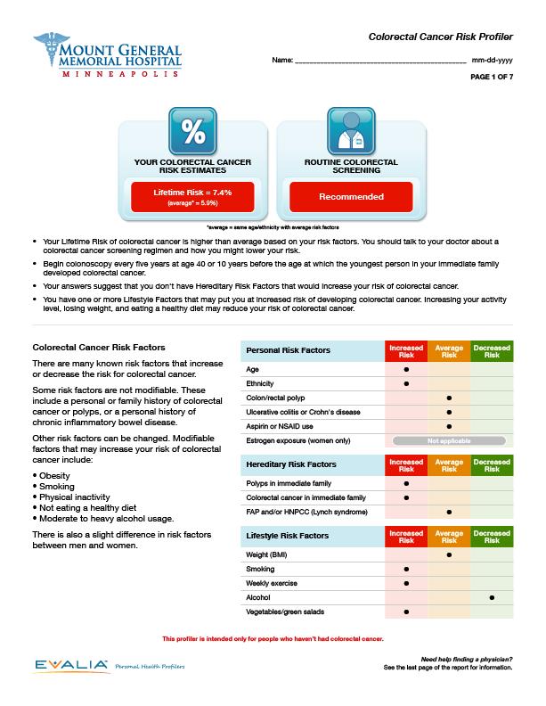 Colorectal Cancer Risk Profiler