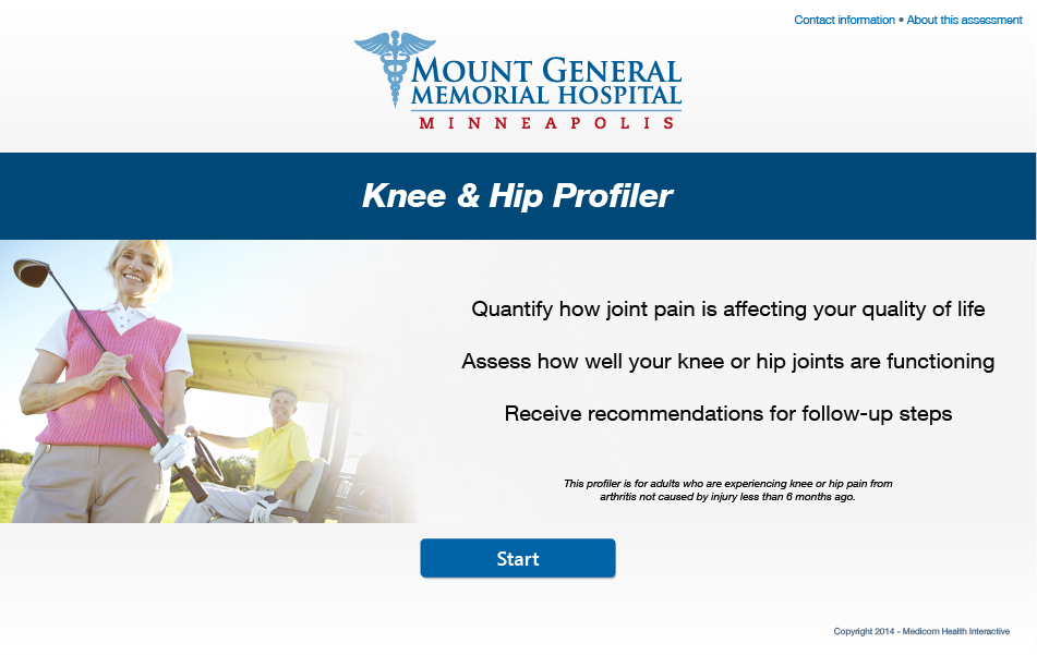 Knee & Hip Pain Profiler