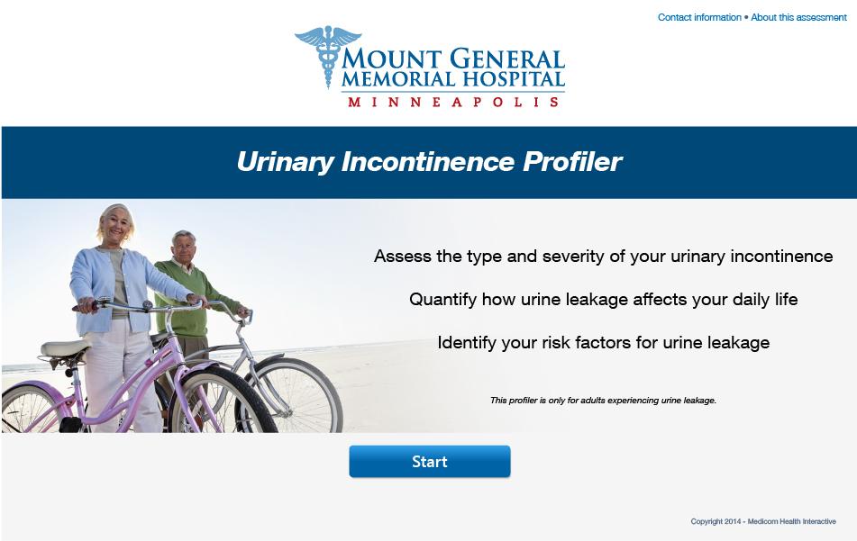 Urinary Incontinence Profiler