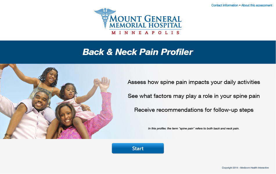Back & Neck Pain Profiler