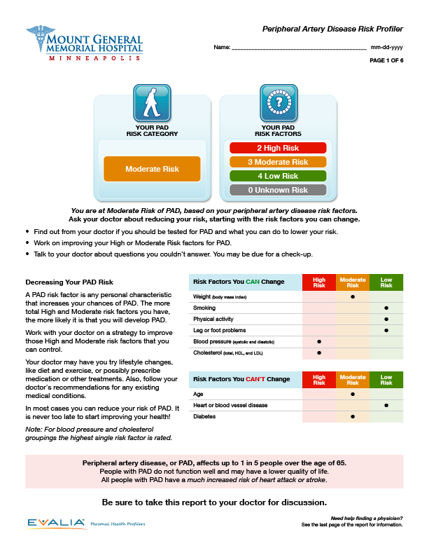 PAD Risk Profiler
