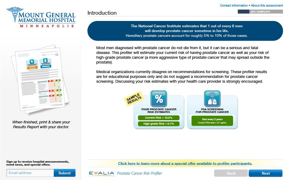 Prostate Cancer Risk Profiler