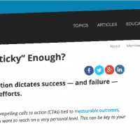 "Are Your CTAs ""Sticky"" Enough?"