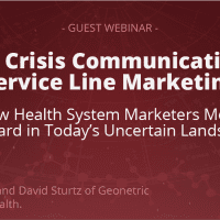 From Crisis Communication to Service Line Marketing