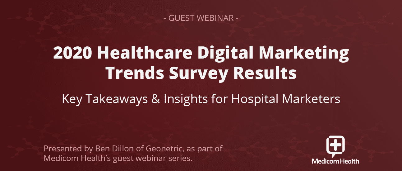 2020 Healthcare Digital Marketing Trends Survey Results